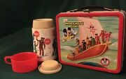 Vintage 1976 Disney Mickey Mouse Club Aladdin Lunch Box And Thermos Normal Wear