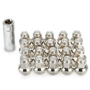 20 Mag Seat Washer Lug Nuts M12x1.5 Stainless Steel For Toyota Camry Lexus Scion