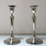 Early 19th Century Antique Portuguese Silver Pair Candlesticks Lisbon Circa 1820