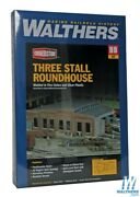 Walthers 933-3041 Three-stall Roundhouse Kit Ho Scale Train