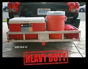 Cargo Carrier Hitch Mount Rack Luggage Aluminum Truck Tool Box 500 Lb Side Rails