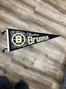 Boston Bruins 1970 Stanley Cup Champions Team Roster Vintage Nhl Hockey Pennant