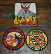 Lot Of 3 Bsa Boy Scout Patches From Philmont / Philbreak - Must See