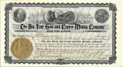 The Big Four Gold And Copper Mining Company Colorado....1899 Stock Certificate