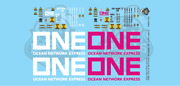 One Ocean Network Express 40' Intermodal Container Pink And White O Scale 148