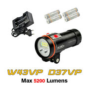 Archon W43vp D37vp Diving Underwater Video Led Flashlight Torch+battery+charger