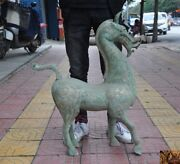 31rare Chinese Tang Dynasty Bronze Ware Silver Zodiac Lucky Animal Horse Statue