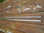 1971-74 Amc Amx Javelin Left And Right Top Of Door Stainless Trim Mouldings 72 73