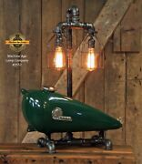 Steampunk Lamp Industrial Original Machine Age Lamp Indian Motorcycle Scout