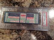 Psa 5 1935 World Series Proof Full Ticket Chicago Cubs Detroit Tigers G5