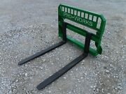 48 Pallet Fork Attachment For John Deere Tractor Loaders Fits 200 300 400 500
