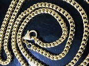 37.30 Grams 14k Solid Yellow Gold Franco Necklace Chain 24inch Brand New