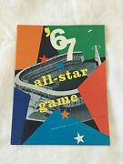 1967 Mlb All-star Game Program With Ticket And Stub Attached And Carrier Sleeve