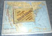 Old Boxed Gem Puzzle Map Of The United States By Milton Bradley