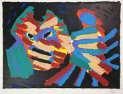 Karel Appel Cat Limited Edition Signed Art 1978 Lithograph