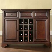 Lafayette Buffet Server/sideboard Cabinet With Wine Storage, Vintage Mahogany