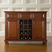 Cambridge Buffet Server/sideboard Cabinet With Wine Storage, Classic Cherry
