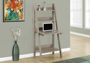 Monarch Specialities Computer Desk - 61h / Dark Taupe Ladder Style I-7042