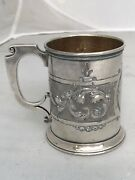 Childandrsquos Cup Mug Gorham Coin Silver 1862 Repousse Scrolls Nice