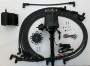 Chevy All Black Small Hei Distributor 50k Coil + Spark Plug Wires Under Exhaust
