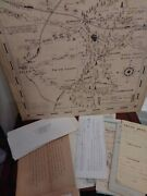 Antique Map Of East Texas Oil Field By Ed. Ray Of Tyler Texas 1933 Lot Of 35
