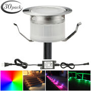 30pcs 31mm 12v Outdoor Yard Patio Stair Pathway Led Deck Rail Recessed Lights