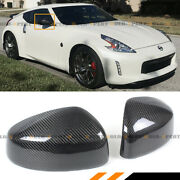 For 2009-2020 Nissan 370z Z34 Carbon Fiber Side View Mirror Covers Cap Overlay