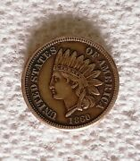 1860 Indian Head Cent Historic Date Extremely Nice Bold Details Huge Sale