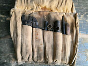 Tool Kit Bag Fiat Wrench Screwdriver Ultra Rare Military Use Old Car