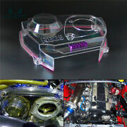 Clear Cam Pulley Gear Timing Belt Cover For Nissan Skyline R32 R33 Gts Rb25det