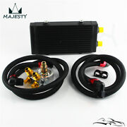 Small Dual Pass Bar And Plate Oil Cooler W/80 Deg Thermostatic Filter Adapter Kit