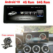 Android 10 Car Gps Radio 8core 4+64gb Rom For Benz C Glc Class W205 S205 X253