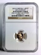2015 Portrait British Quarter Sovereign Gold Andndash Ngc Pf 69 Uitra Cameo First 550