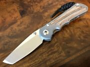 Chris Reeve Knives Small Inkosi Tanto S35vn Natural Canvas Micarta Sin-1046