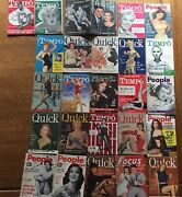 26 Signatures A Piece Of Hollywood History -quick Magazines 1951-54 -25 Issues