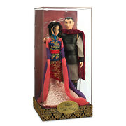 Disney Store Fairytale Designer Collection Mulan And Li Shang Dolls Limited Ed