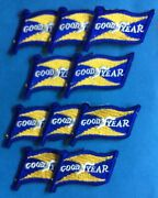 10 Lot Vintage 1960's Goodyear Tires Nascar Sponsor Racing Gear Jacket Patches