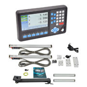 Dro 3 Axis Digital Readout With 2 Pcs Linear Glass Scale 0-2000mm For Lathe
