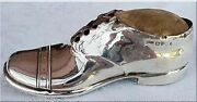 Antique Pin Cushion Sterling Silver Shoe 1909 Edwardian Sewing Accessory 3056