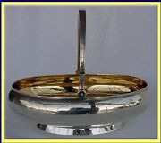 Imperial Russian Silver Basket Bowl Gilded Inside St Petersburg Antique 3135
