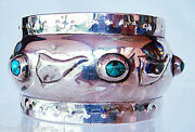 Liberty And Co Cymric Napkin Ring Sterling Silver Gemset 1904 Arts Crafts 4740