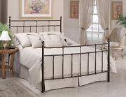 Hillsdale Furniture 380bfr Providence Bed Set - Full With Rails Antique Bronze