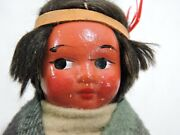 Rare Skookum Bully Good Native Indian Child/woman Doll Leather Shoes 1930's