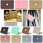 2in1 Pu Leather Coated Wooden Matte Hard Case For Macbook Air Pro 11 12 1315