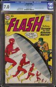 Flash 109 Cgc 7.0 Off-white Dc, 1959 2nd Appearance Mirror Master