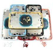 Oem Back Housing Glass Battery Cover Frame Assembly Replacement For Iphone Xr