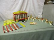 1962 Fisher Price Circus Wagon 900 Almost Complete Set With Red Ball Vintage