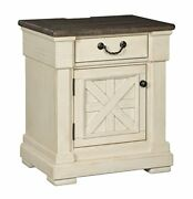 Ashley Casual Wood Night Stand In Two-tone Finish B647-191