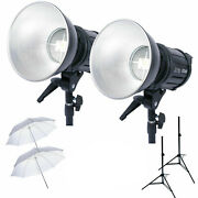 120w Led Photo Video Lighting Kit With Softbox Umbrella Stands And Light Bag