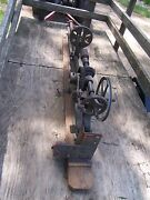 Antique Champion Blower And Forge Post Drill Press Primitive Shop Barn Garage Tool